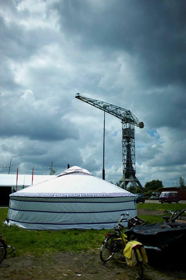 Mongolian Yurt NDSM Shipyards Amsterdam